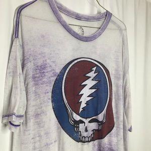 Purple Burn Out Grateful Dead Super Light Thin XL